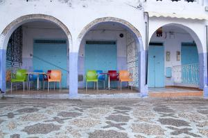 Morocco, Local Village Eatery in Chefchaouen in Village Medina by Emily Wilson