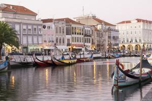 Portugal, Aveiro. 'Portuguese Venice'. Canal District Tourist Gondola and their Reflections by Emily Wilson