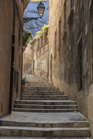 Spain, Balearic Islands, Mallorca, Palma de Mallorca, street scenes.