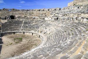 Turkey, Anatolia, Aydin Province, Theater ruins of Miletus. by Emily Wilson