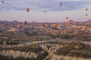 Turkey, Cappadocia. Hot Air Ballooning in Turkey, Goreme Valley, Near Cappadocia by Emily Wilson