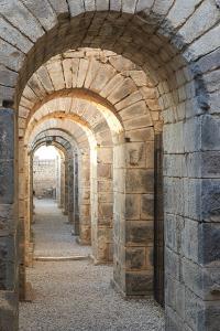 Turkey, Izmir, Bergama, Pergamon. Arches of the sanctuary of Trajan. by Emily Wilson