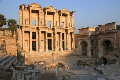 Turkey, Izmir, Selcuk, ancient city Ephesus. Library of Celsus.
