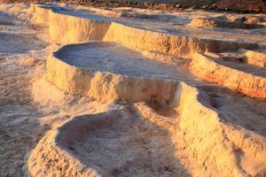 Turkey, River Menderes valley, Pamukkale. Cotton castle hot springs. by Emily Wilson