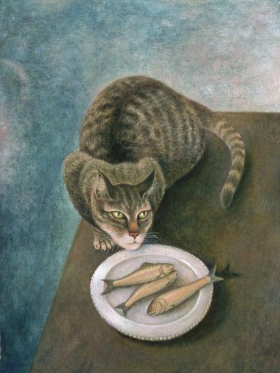 Emily with Three Trout-Patricia O'Brien-Giclee Print