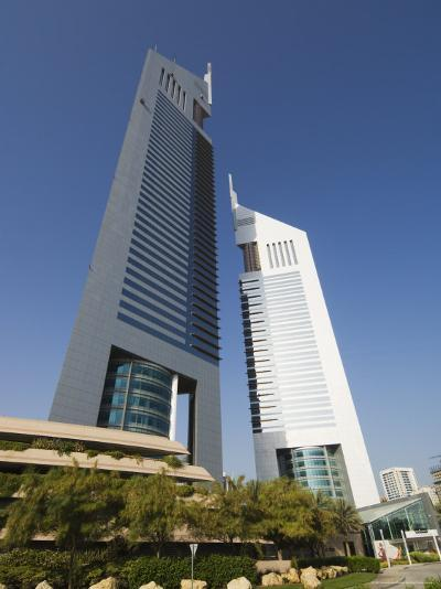 Emirates Towers, Sheikh Zayed Road, Dubai, United Arab Emirates, Middle East-Amanda Hall-Photographic Print