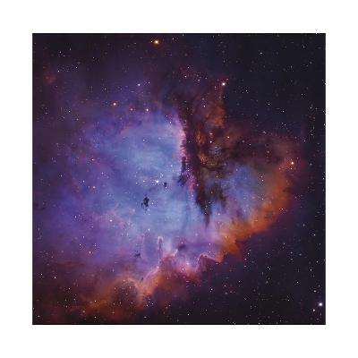 Emission Nebula and Open Cluster in Cassiopeia-Robert Gendler-Giclee Print