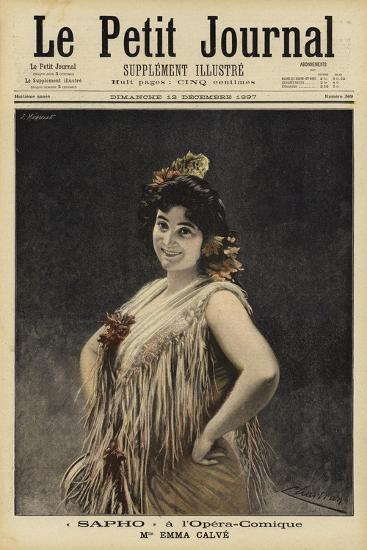 Emma Calve in Sappho at the Opera-Comique, Paris--Giclee Print