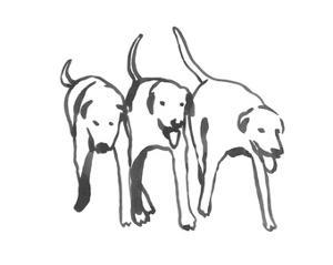 Dogs on a Jog I by Emma Caroline