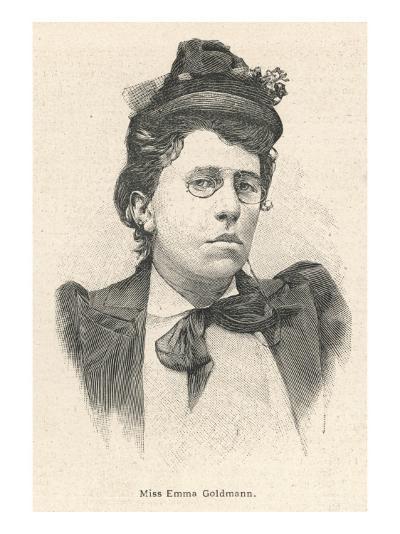 Emma Goldman Lithuanian-Born American Anarchist Politician and Agitator--Giclee Print
