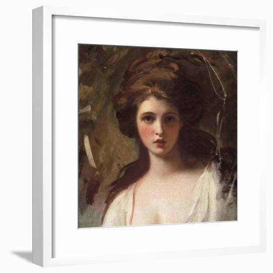 Emma Hart as Circe-George Romney-Framed Premium Giclee Print