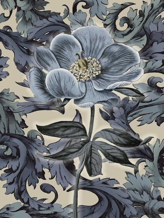 Indigo Deco Flower II