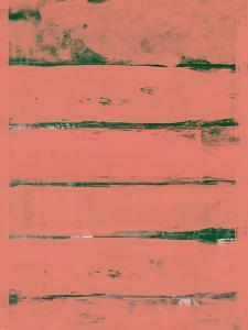 Abstract Indian Red and Green Study by Emma Moore