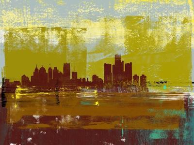 Detroit Abstract Skyline I
