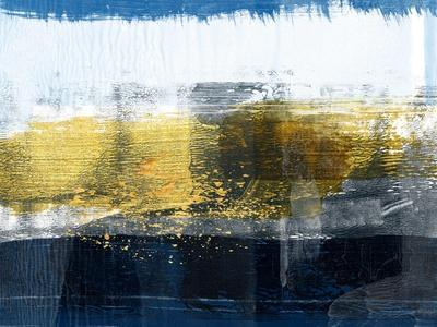 Gold and White Abstract Study