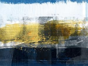 Gold and White Abstract Study by Emma Moore