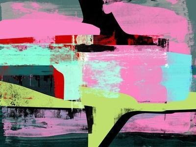 Hot Pink Abstract Study