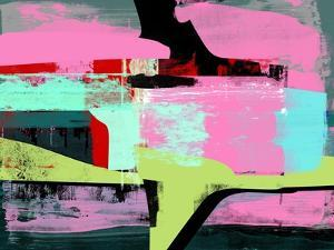 Hot Pink Abstract Study by Emma Moore