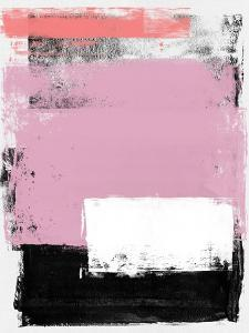 Lavender and Black Abstract Study by Emma Moore