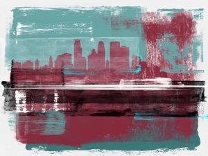 Minneapolis Abstract Skyline II by Emma Moore