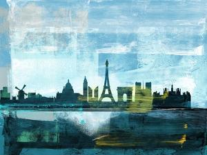 Paris Abstract Skyline II by Emma Moore