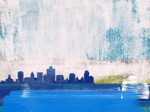 Salt Lake City Abstract Skyline I by Emma Moore