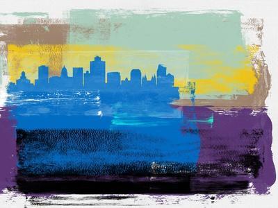 Salt Lake City Abstract Skyline II