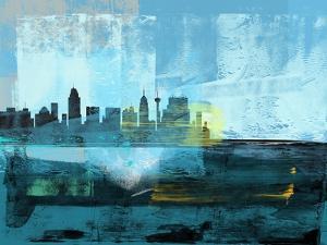 San Antonio Abstract Skyline I by Emma Moore