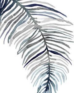 Blue Feathered Palm II by Emma Scarvey