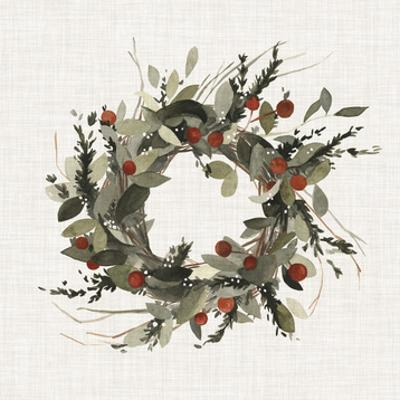 Farmhouse Wreath I by Emma Scarvey