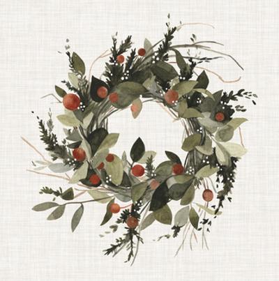 Farmhouse Wreath II by Emma Scarvey