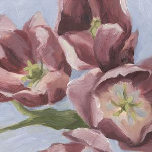 Mauve Tulips II by Emma Scarvey