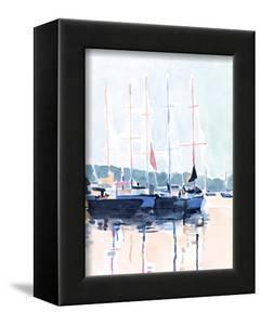 Watercolor Boat Club I by Emma Scarvey
