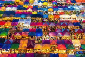 Train Night Market in Bangkok by Emmanuel Charlat