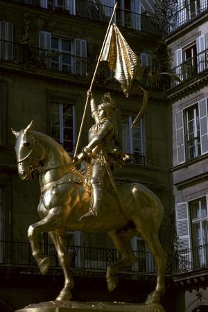 Gilded equestrian statue of St Joan of Arc, 19th century
