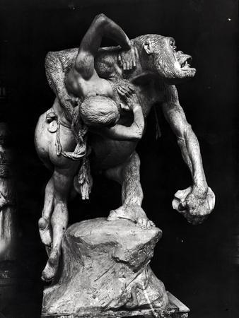 Gorilla Abducting a Woman