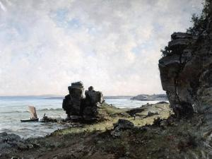 A Beautiful Morning at the Coast of Brittany, 1882 by Emmanuel Lansyer