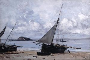 Beached Boats at St Jean, 1884 by Emmanuel Lansyer