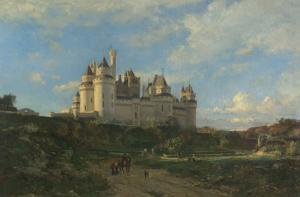 Le Château de Pierrefonds by Emmanuel Lansyer
