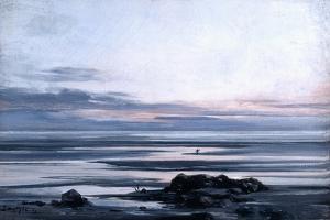 Mont St Michel, 1881 by Emmanuel Lansyer