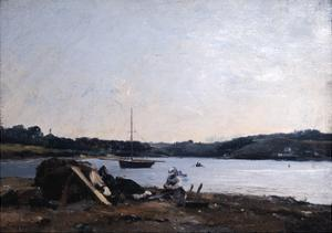 Mouth of the River, 1868 by Emmanuel Lansyer