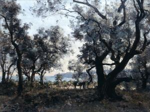 Olive Trees around Cap Martin, 1891 by Emmanuel Lansyer