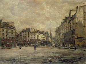 Place Maubert, Paris, 1888 by Emmanuel Lansyer