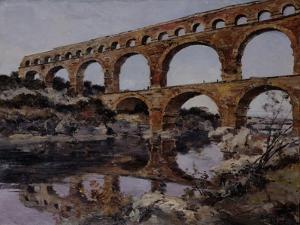 Pont Du Gard, 1890 by Emmanuel Lansyer