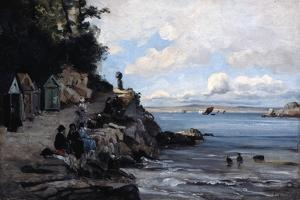 Saturday at the Woman's Bathing Beach, 1876 by Emmanuel Lansyer