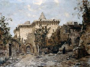 The Door of Cordelières and the Castle, 1891 by Emmanuel Lansyer