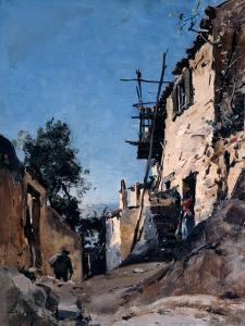 The Old Town Below the Cemetery, Menton, 1890 by Emmanuel Lansyer