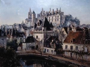 The Port of Cordelieres and Castle Loches, 1891 by Emmanuel Lansyer