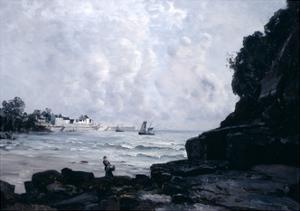 The Port of Douarnenez, 1884 by Emmanuel Lansyer
