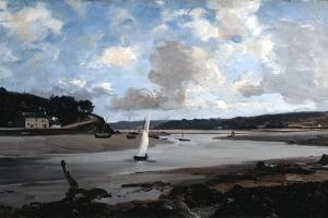 The River at Half Tide, 1874 by Emmanuel Lansyer
